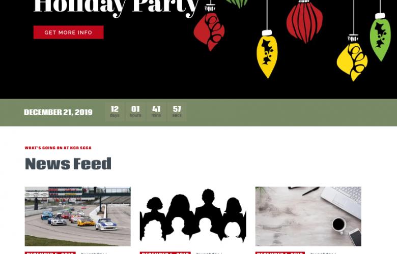 KCR SCCA website home page